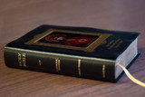 Personalized Catholic Bible with For God So Loved the World Cover - Black Bonded Leather RSVCE