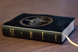 Personalized Catholic Bible with Bread of Angels Cover - Black Bonded Leather RSVCE