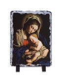 Madonna and Her Child Vertical Slate Tile