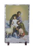 St. Joseph Guardian of Sons Vertical Slate Tile