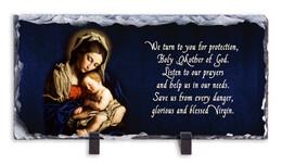 Madonna and Her Child Prayer Horizontal Slate Tile