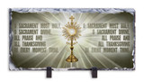 Monstrance Prayer Horizontal Slate Tile