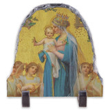 Madonna and Child by Enric M. Vidal Arched Slate Tile