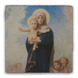 Our Lady of the Angels Square Tumbled Stone Tile