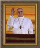 Pope Francis Arrives on Balcony Framed Art