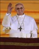 Pope Francis Arrives on Balcony Print