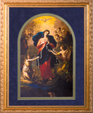 Mary Undoer of Knots Arched and Matted Print