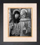 St. Catherine and Bernardino of Siena Framed Art