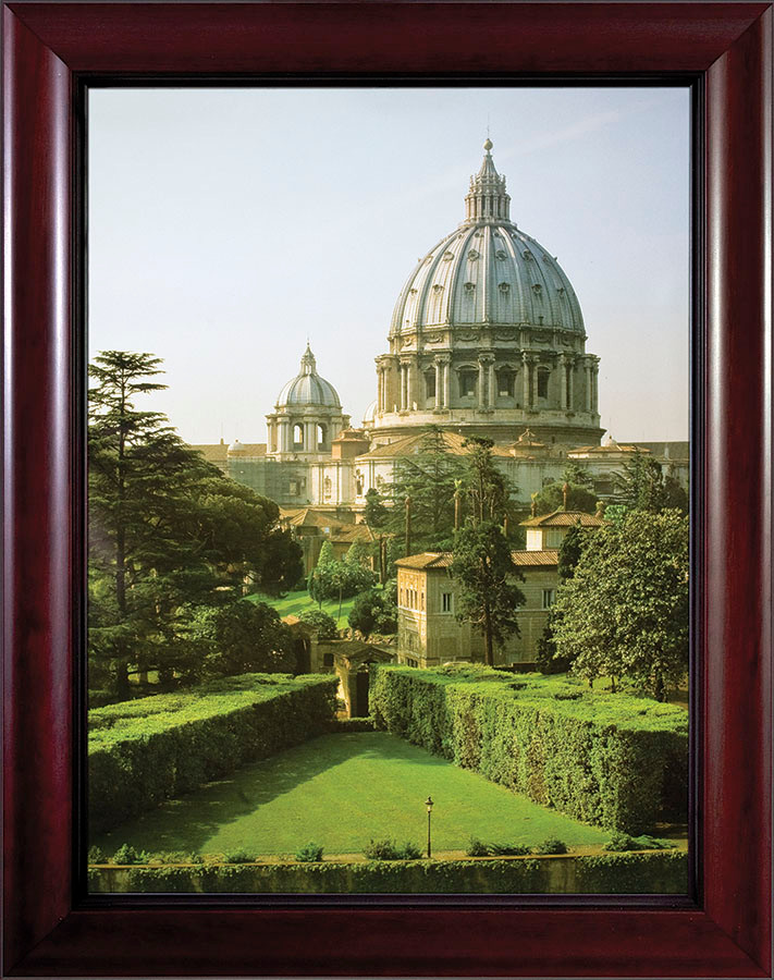 View Of The Vatican Gardens Framed Art Catholic To The