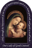 Our Lady of Good Counsel Prayer Arched Magnet