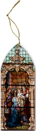 Presentation Stained Glass Wood Ornament