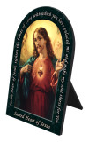 Sacred Heart of Jesus Prayer Arched Desk Plaque