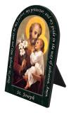 St. Joseph (Younger) Prayer Arched Desk Plaque