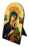 Our Lady of Perpetual Help Arched Desk Plaque