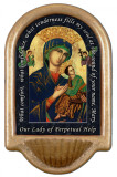 Our Lady of Perpetual Help Prayer Holy Water Font