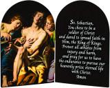 St. Sebastian Athlete's Prayer Arched Diptych