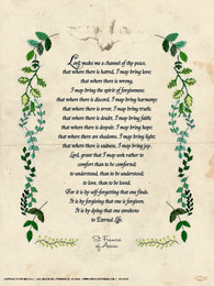 St Francis Prayer Poster Catholic To The Max Online