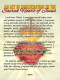 An Act of Consecration to the Sacred Heart of Jesus Poster