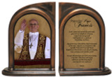 Pope Francis Giving Blessing Bookends