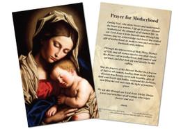 Prayer Card for Motherhood