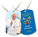 Pope Francis Thumbs Up Commemorative Apostolic Journey Dog Tag