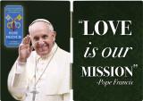 Pope Francis Waving Commemorative Apostolic Journey Diptych
