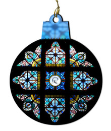 St. Joseph with the Child Jesus Stained Glass Wood Ornament