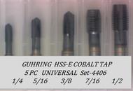 5PC NF Spiral Point Tap Universal Set-4406 GUHRING