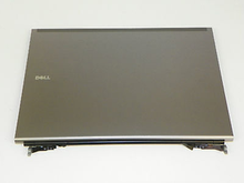 DELL LAPTOP PRECISION M6500  LCD 17 INCHES  BACK COVER LID ASSEMBLY WITH HINGES / CONTRAPORTADA ENSAMBLE CON TAPA Y  BISAGRAS DELL NEW 42R7J