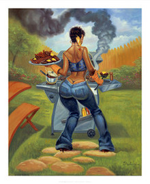 BBQ Art Print - Sterling Brown