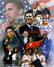 Obama - Change II Art Print - Wishum Gregory