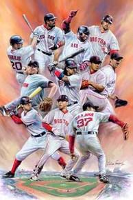 Boston Red Sox Art Print - Wishum Gregory