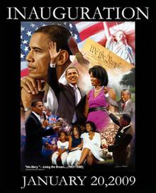 Barack Obama Inauguration: Living the Dream Art Print - Wishum Gregory