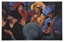 Crowns of Glory - Lift Him Up (24 x 36) art print by Henry Lee Battle