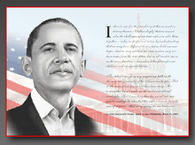 Obama - Philadelphia Speech Art Print - Tim Hinton