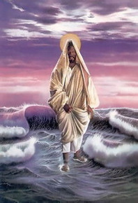Christ Walking on Water Art Print - Alan & Aaron Hicks