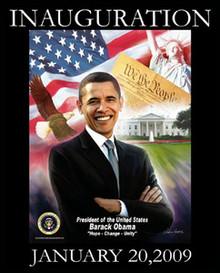 Barack Obama Inauguration: Hope, Change, Unity Art Print - Wishum Gregory