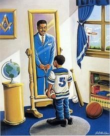 I Shall Be Raised Again (Masonic) Art Print - Lester Kern