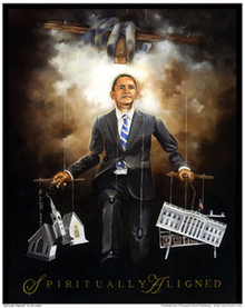 Spiritually Aligned - Barack Obama Art Print Edwin Lester