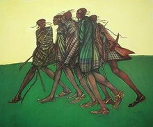 Herdsticks and Sandals Art Print - Charles Bibbs