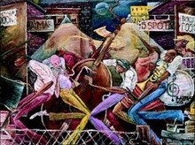 Between Gigs Art Print - Frank Morrison