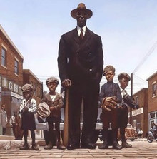 Willie Foster and Young Fans Art Print - Kadir Nelson