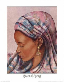 Queen of Spring Art Print - Marcella Hayes Muhammad