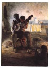 Banjo Lesson Art Print - Henry Tanner