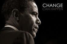 Barack Obama: Change Can Happen Art Print