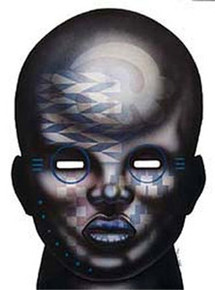 MILLENNIUM MASK #1 Art Print - Larry Poncho Brown