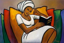 Afternoon Reader Art Print 12 x 18in - Romeo