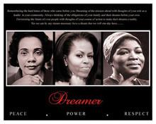 Dreamer (Trio): Peace, Power, Respect 8 x 10 Art Print