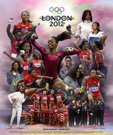 Sistas in Motion: London 2012 Art Print - Wishum Gregory