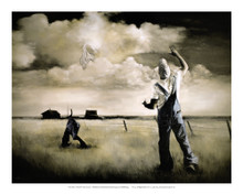 Two Men in a Field Art Print - Edwin Lester